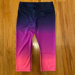 Xersion Neon Fitted Capri Yoga Athletic Pants M